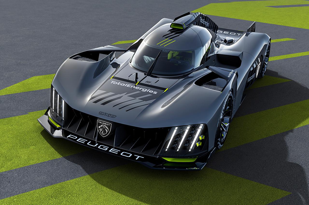 Картинка Peugeot 9X8, 2022 черные машина Металлик Пежо черная Черный черных авто машины Автомобили автомобиль