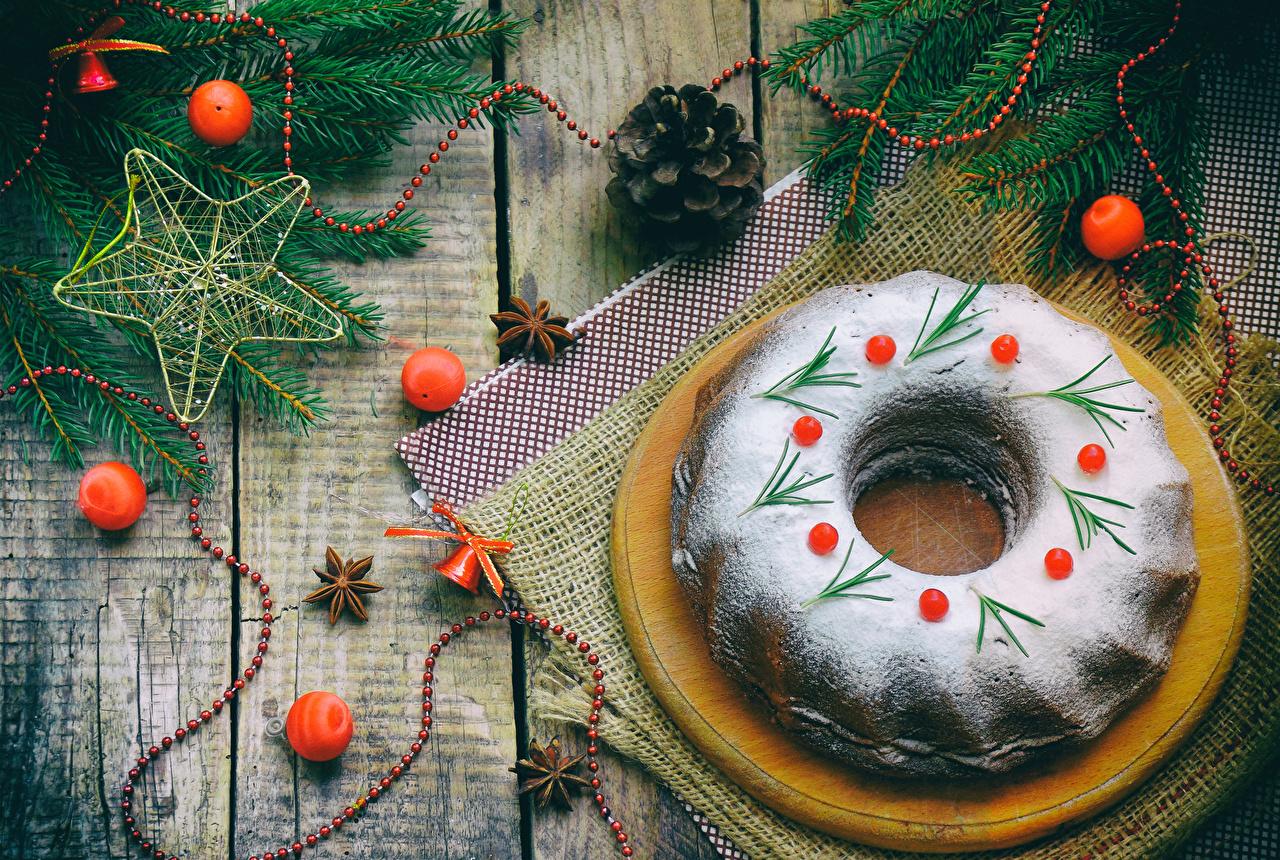 Картинка Рождество Сахарная пудра Шар Еда шишка Выпечка Доски Новый год Пища Шишки Шарики Продукты питания