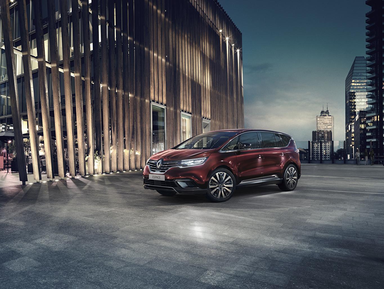 Фотографии Renault 2019 Espace Минивэн бордовая авто Рено Бордовый бордовые темно красный машина машины Автомобили автомобиль