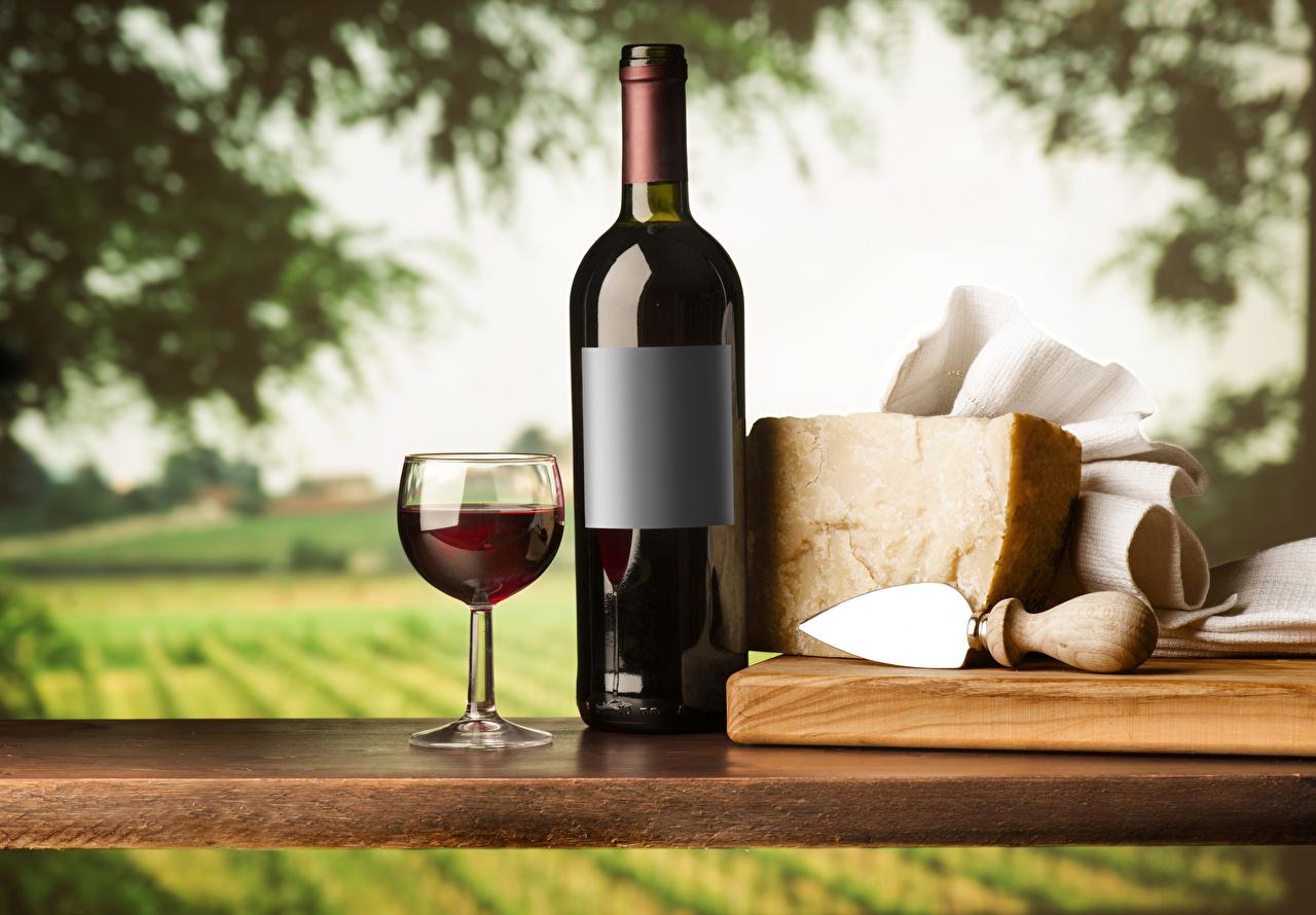 Фотография Вино Сыры Бокалы Бутылка Продукты питания Еда Пища бокал бутылки