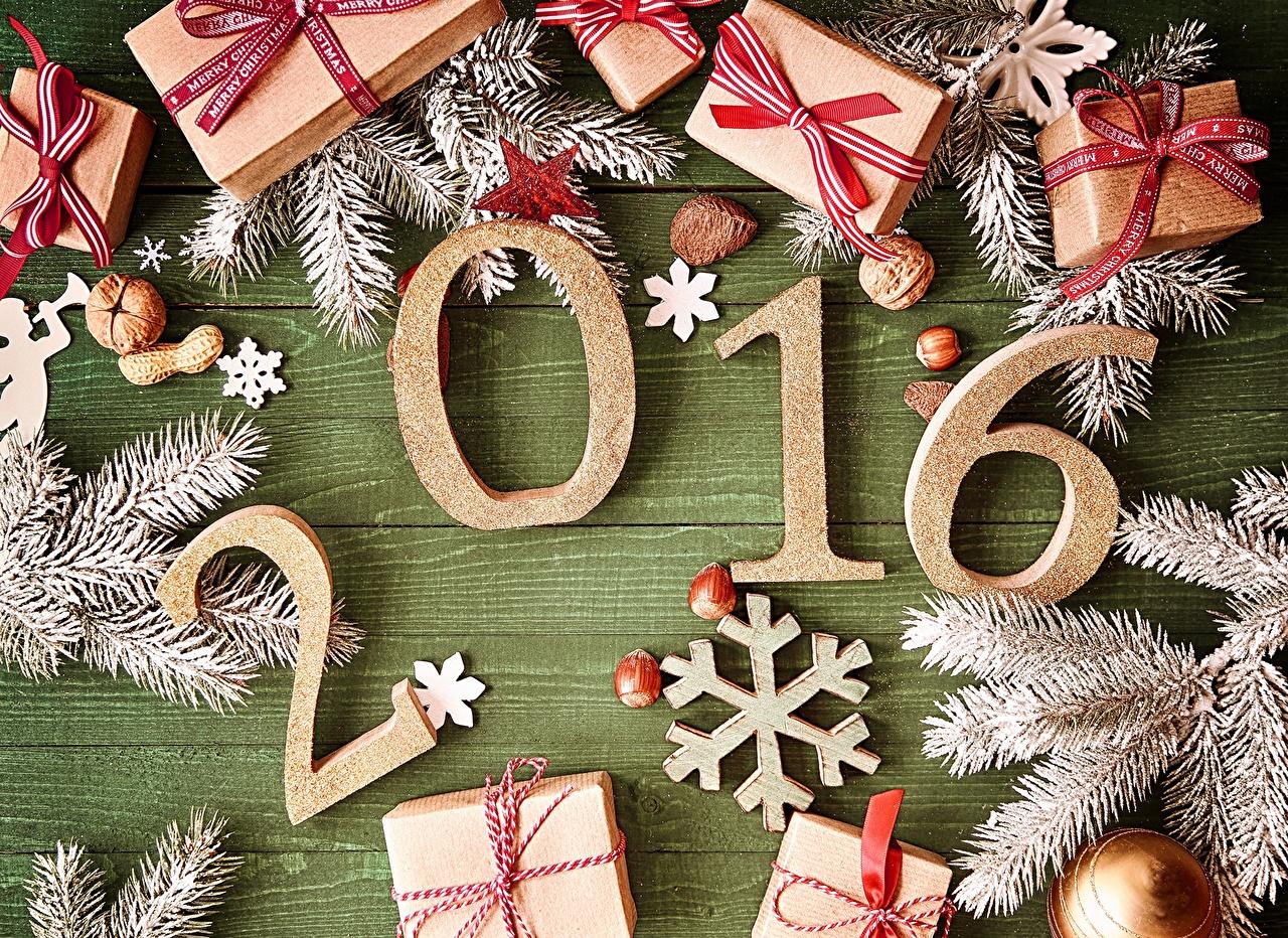 Картинка 2016 Рождество снежинка подарков Праздники Новый год Снежинки подарок Подарки