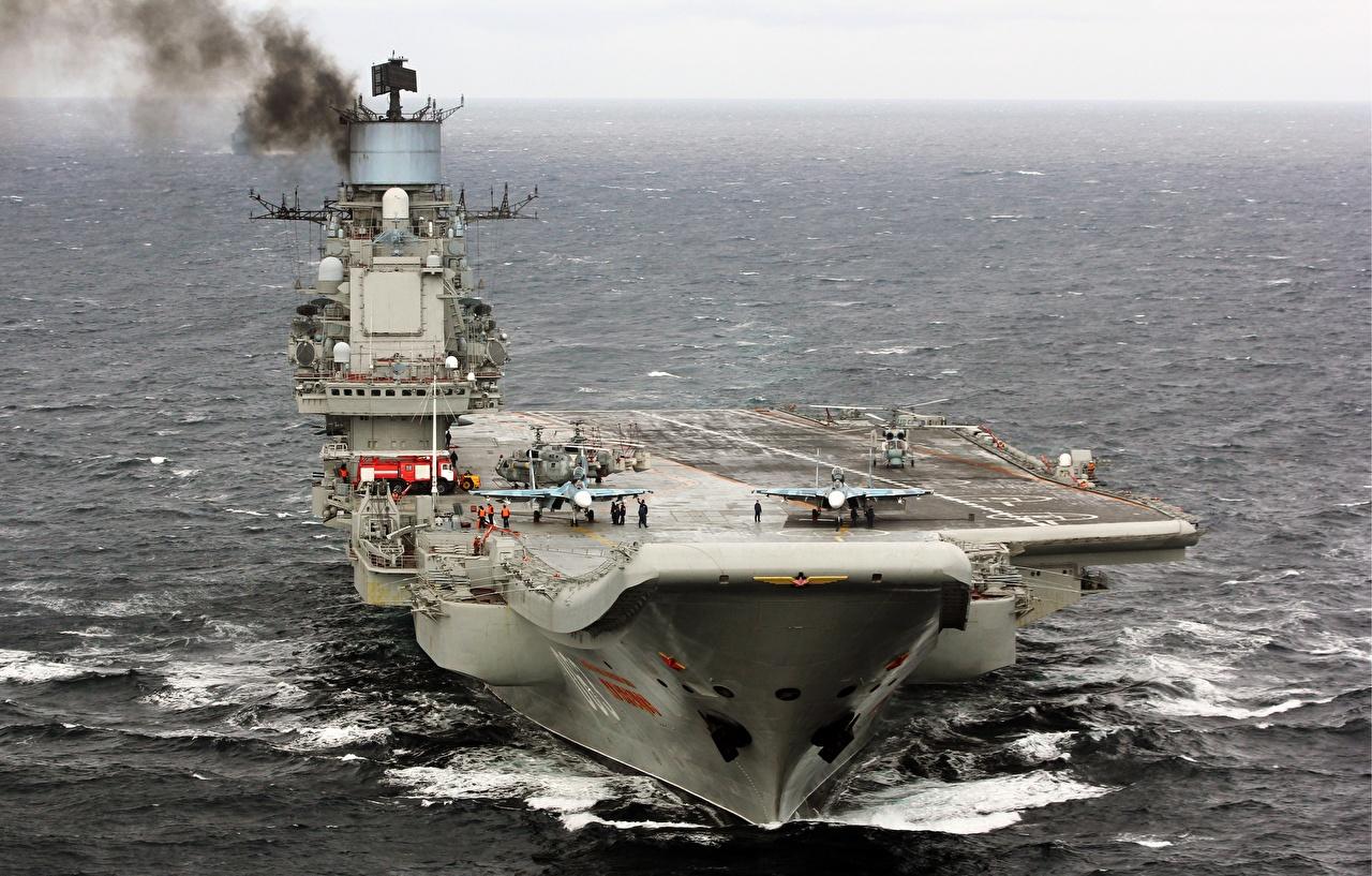 Фотография Авианосец Русские Admiral Kuznetsov Корабли Армия российские