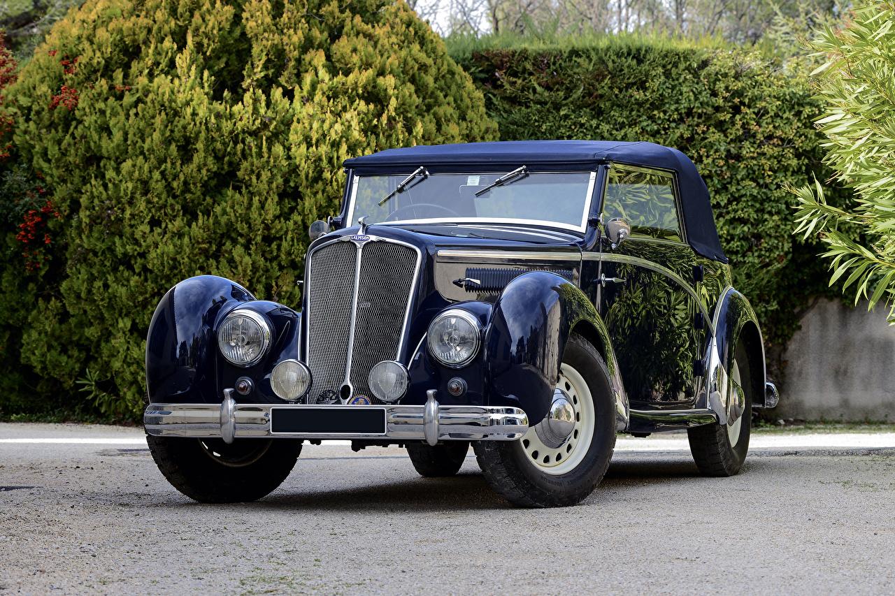 Фото 1938-52 Salmson S4-61 Cabriolet Синий Ретро Машины Металлик Винтаж старинные Авто Автомобили
