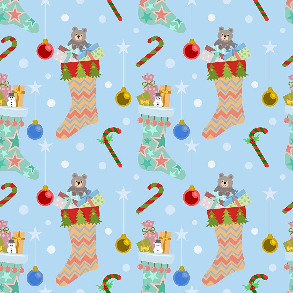 Фотография Текстура Новый год носках Рождество Носки