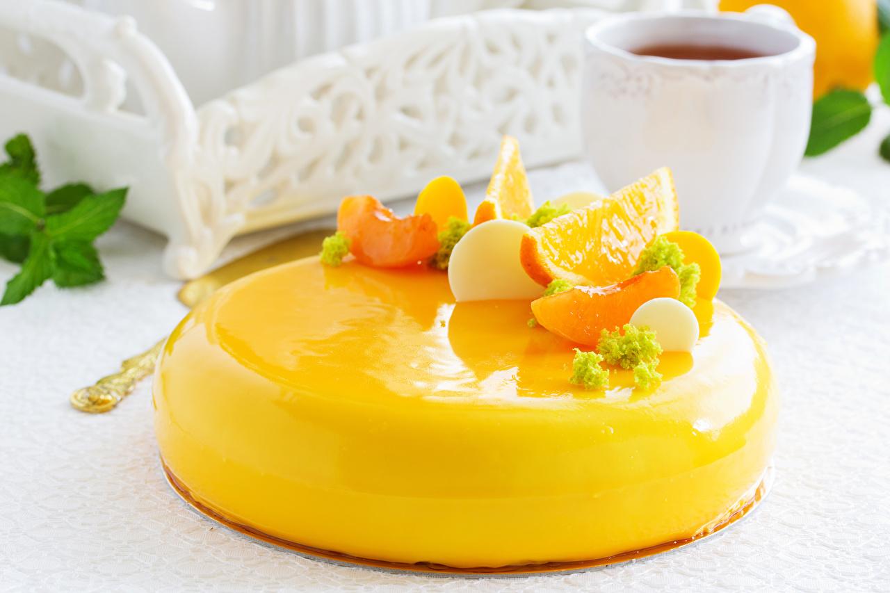 Картинки Торты желтых Пища Фрукты Сладости Дизайн Желтый желтые желтая Еда Продукты питания сладкая еда дизайна