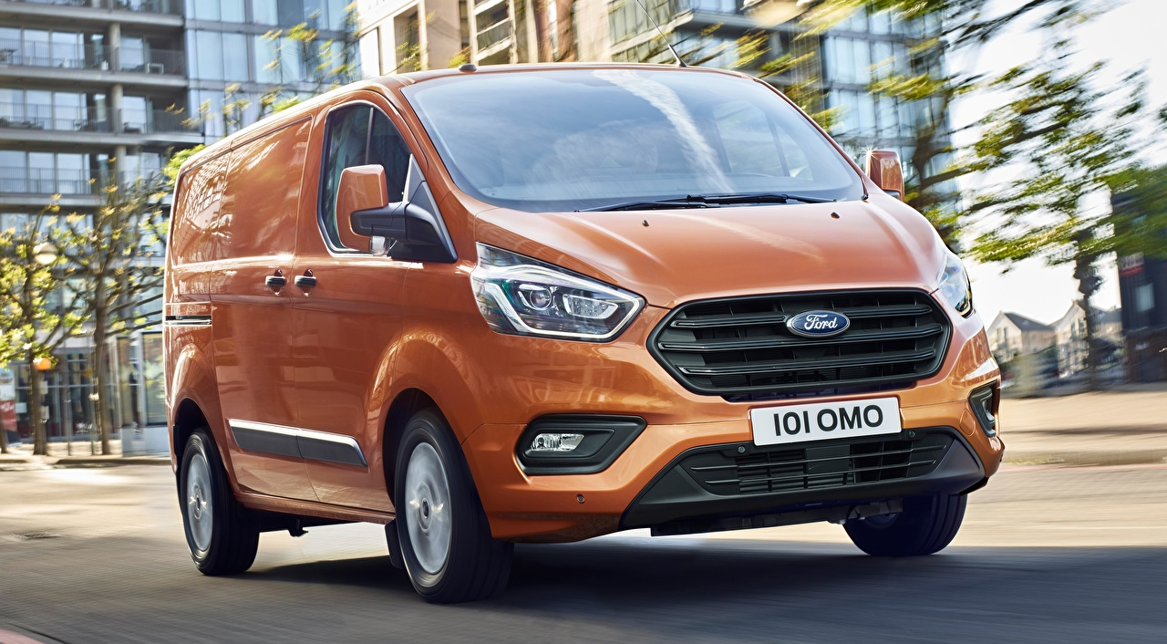 Фотографии Форд Transit Custom, 2017 Фургон оранжевых Автомобили Ford оранжевая оранжевые Оранжевый авто машины машина автомобиль