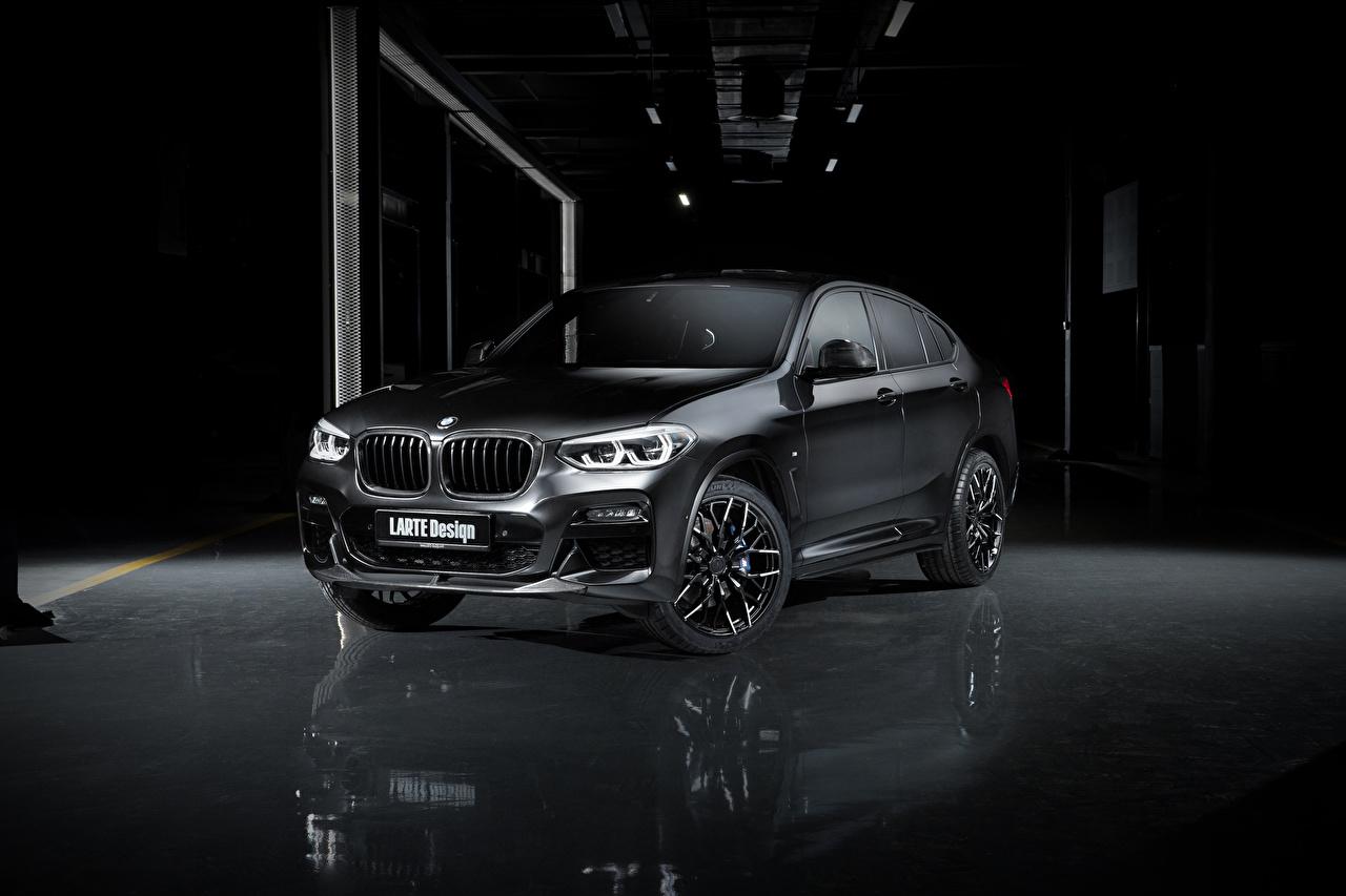 Картинки БМВ Кроссовер 2020 Larte Design BMW X4 Черный Автомобили CUV черная черные черных авто машины машина автомобиль