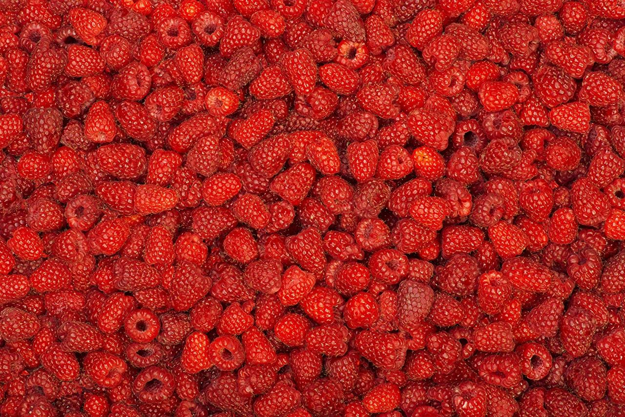 Картинки Текстура красная Малина Пища Ягоды Много красных красные Красный Еда Продукты питания