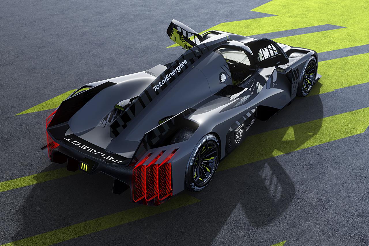 Картинка Peugeot Открытая дверь 9X8, 2022 черных авто Металлик Пежо черная черные Черный машина машины Автомобили автомобиль