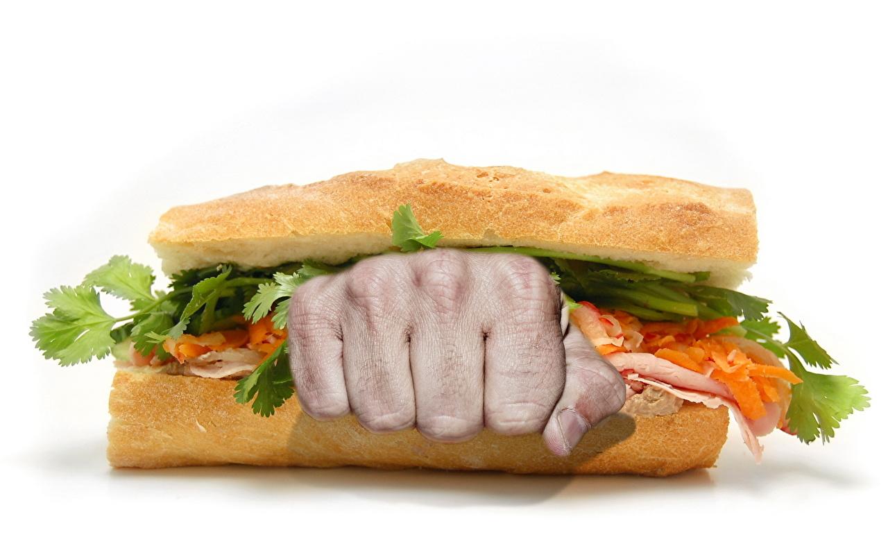 Картинка Еда Фастфуд бутерброд оригинальные рука Сэндвич Пища Продукты питания Креатив креативные Бутерброды Быстрое питание Руки