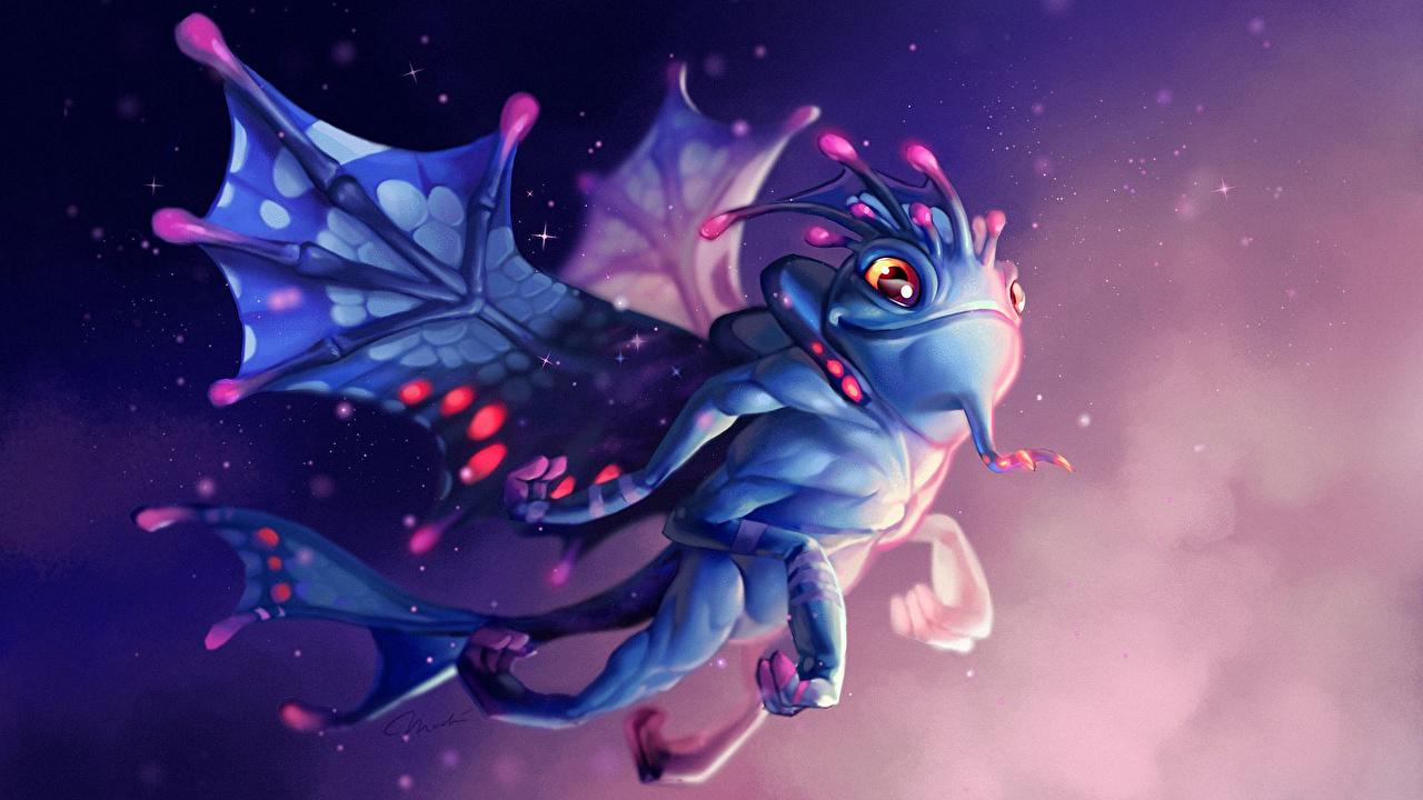 DOTA 2 Puck Сверхъестественные существа Магия  11 глаз, Фантастика, волшебство, Пак Игры Фэнтези