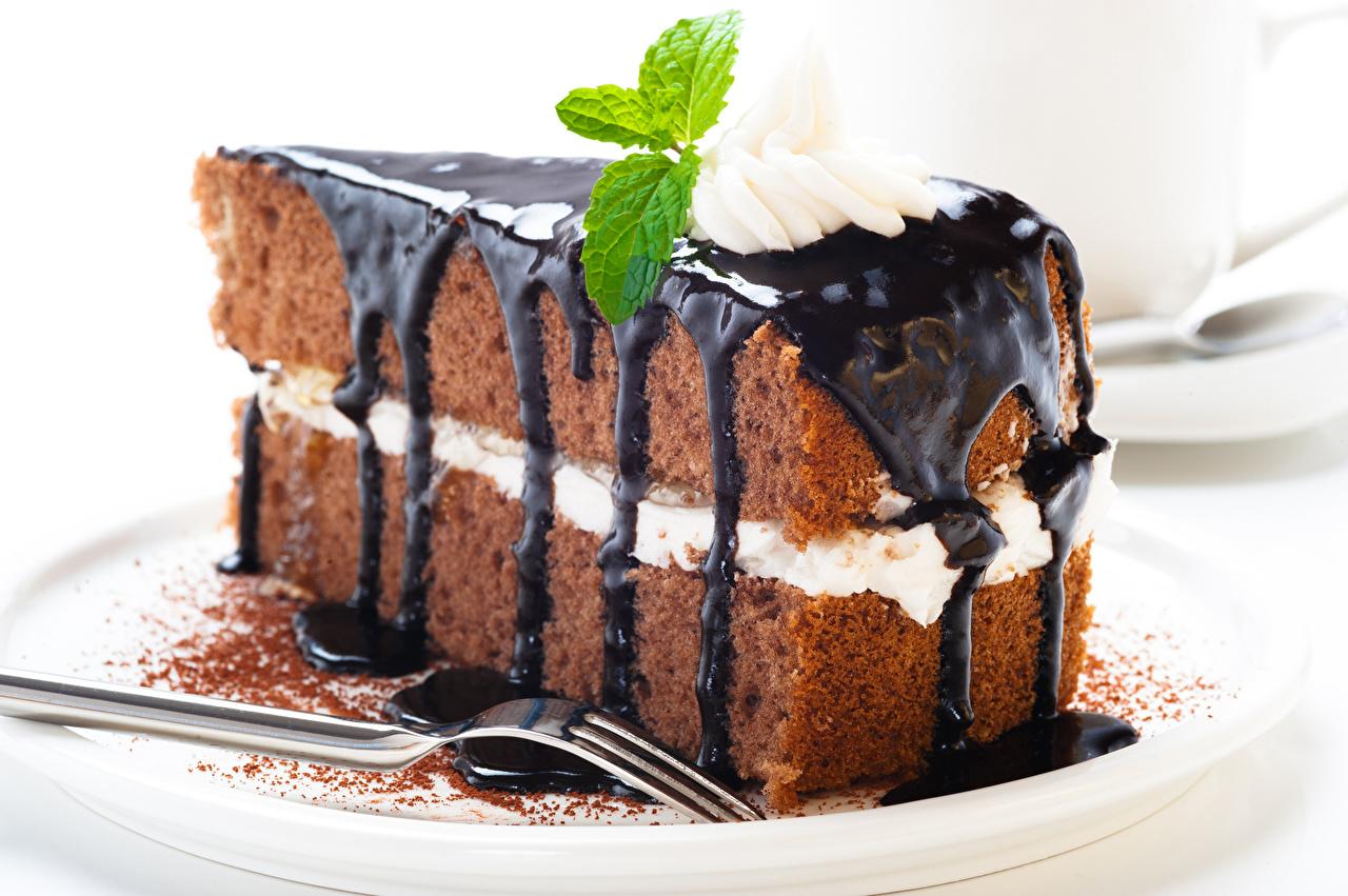 Фотография Шоколад вилки Продукты питания Пирожное сладкая еда Еда Пища Вилка столовая Сладости