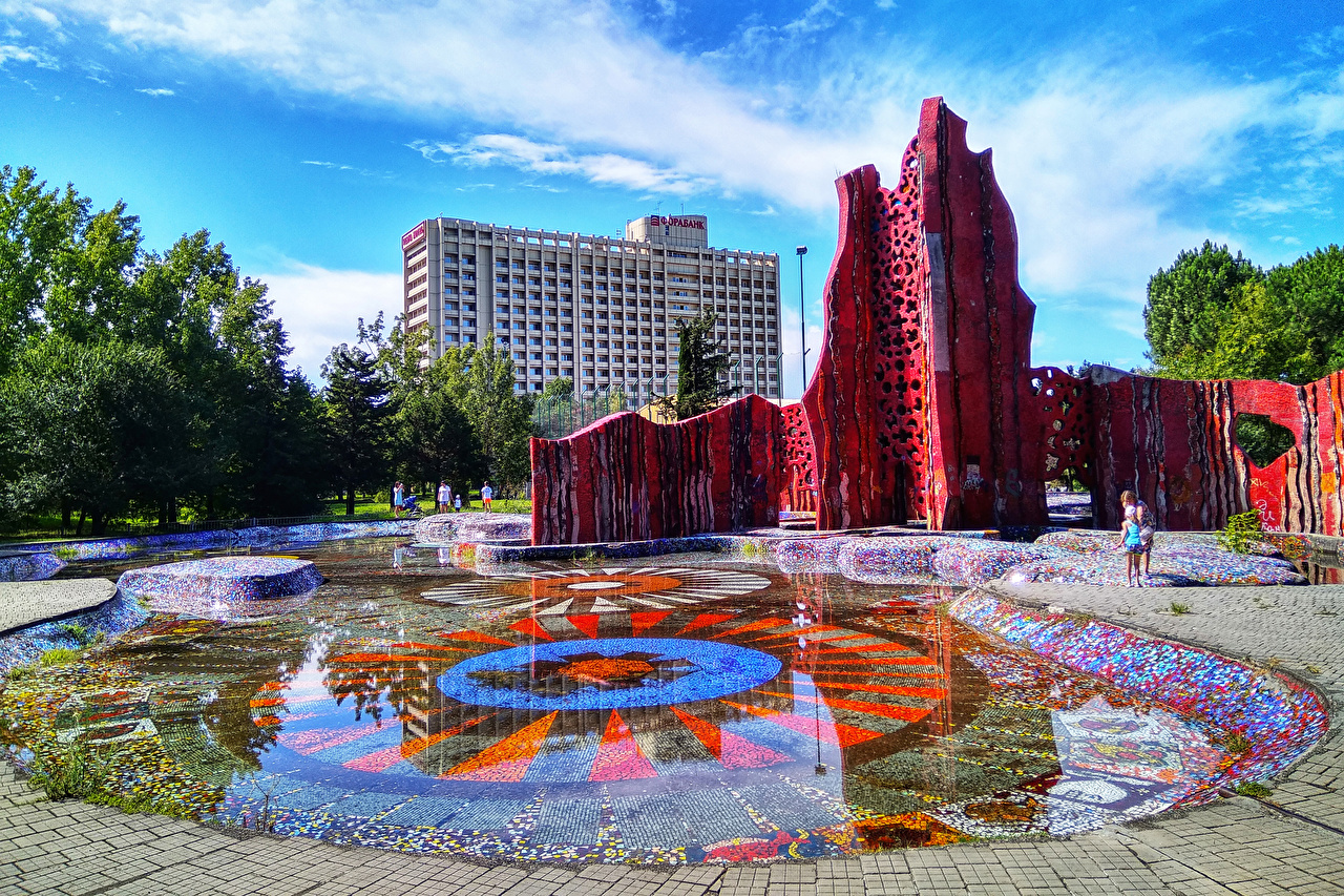 Фото Сочи Россия Природа парк Пруд Дизайн Парки дизайна
