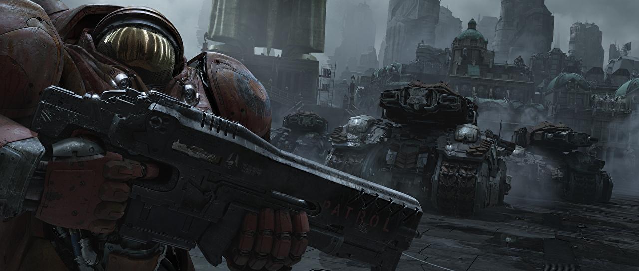 Картинка StarCraft 2 Воители Фэнтези Игры воины Фантастика