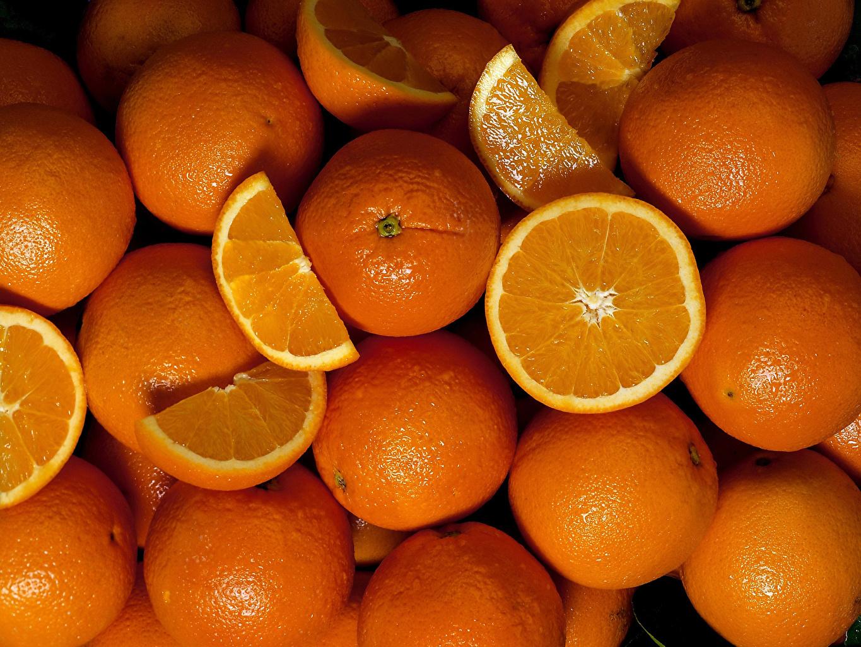 Обои для рабочего стола Текстура Апельсин Еда Много Цитрусовые Пища Продукты питания