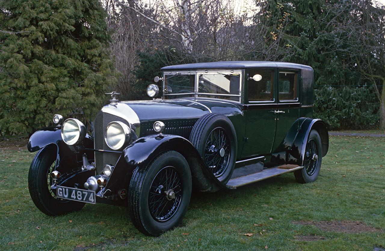 Картинки Bentley 1928 6 ½ Litre Saloon by Barker Ретро Автомобили Бентли винтаж старинные авто машины машина автомобиль