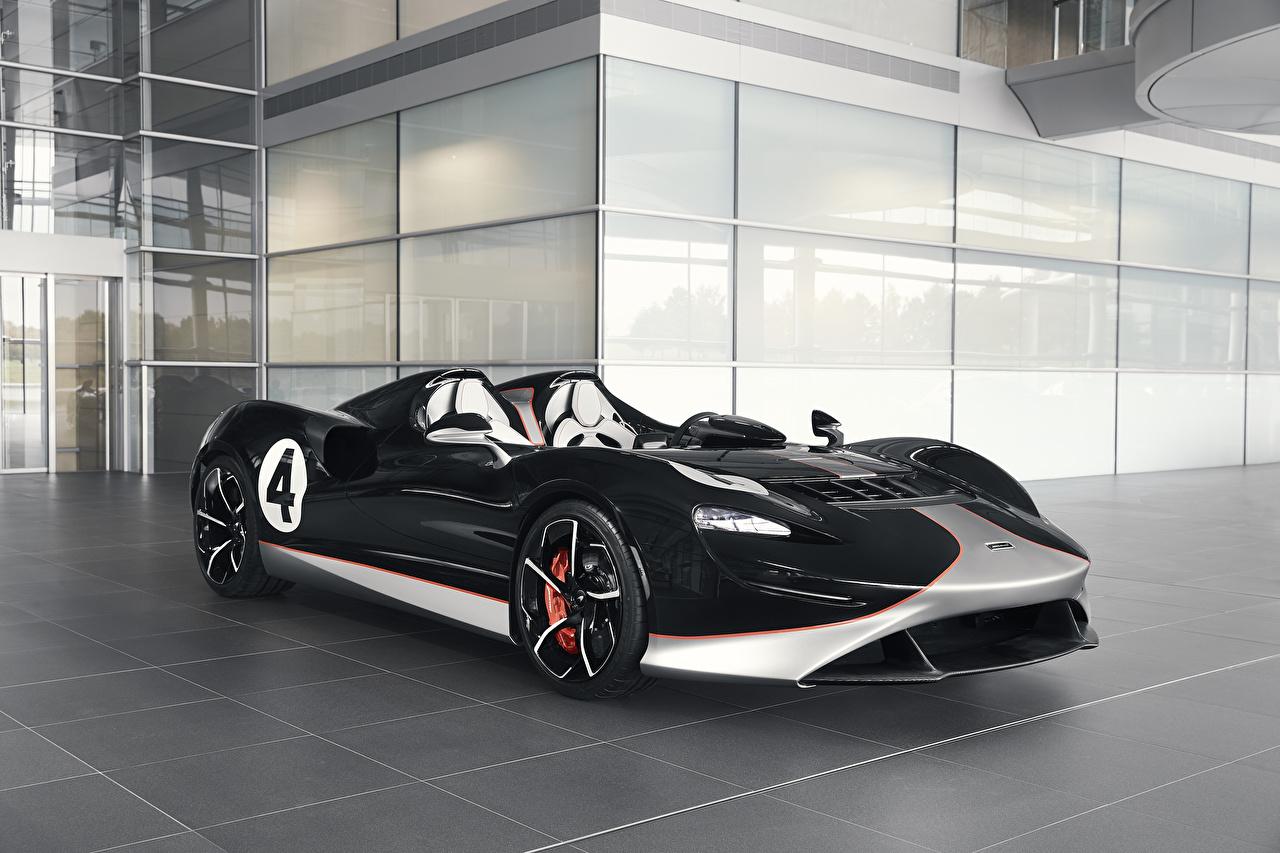 Фотографии McLaren 2020 MSO Elva M1A Theme Родстер Черный машина Металлик Макларен черная черные черных авто машины Автомобили автомобиль
