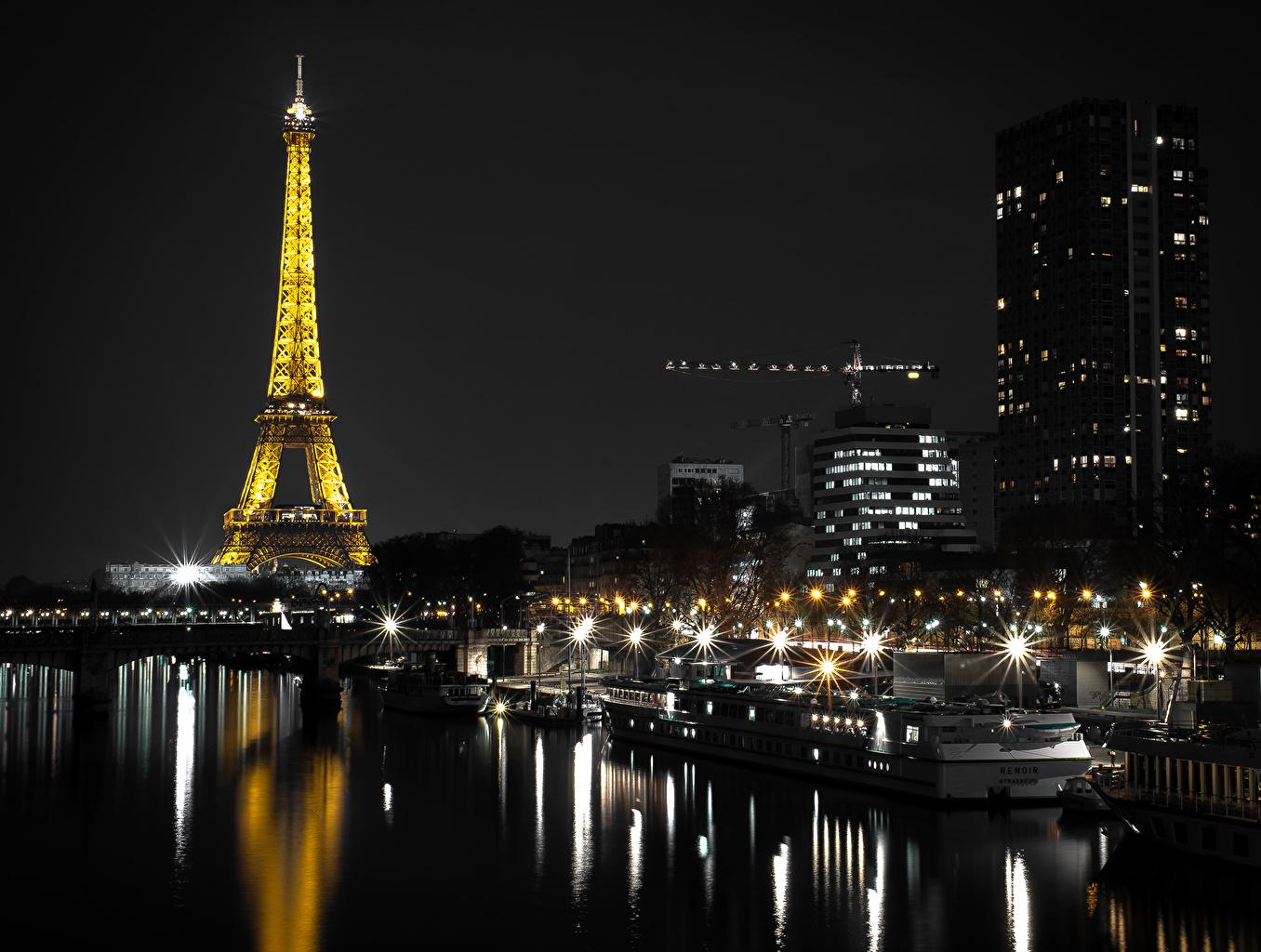 Обои ночной париж. Города foto 9
