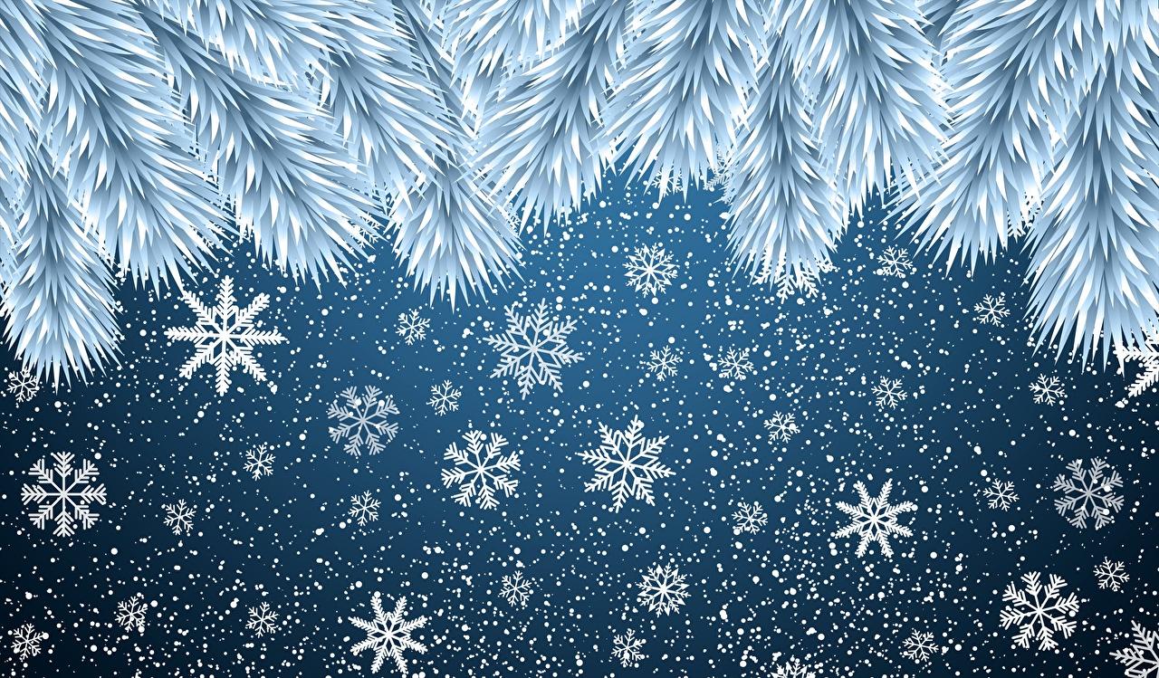 Фотографии Рождество снежинка Новый год Снежинки