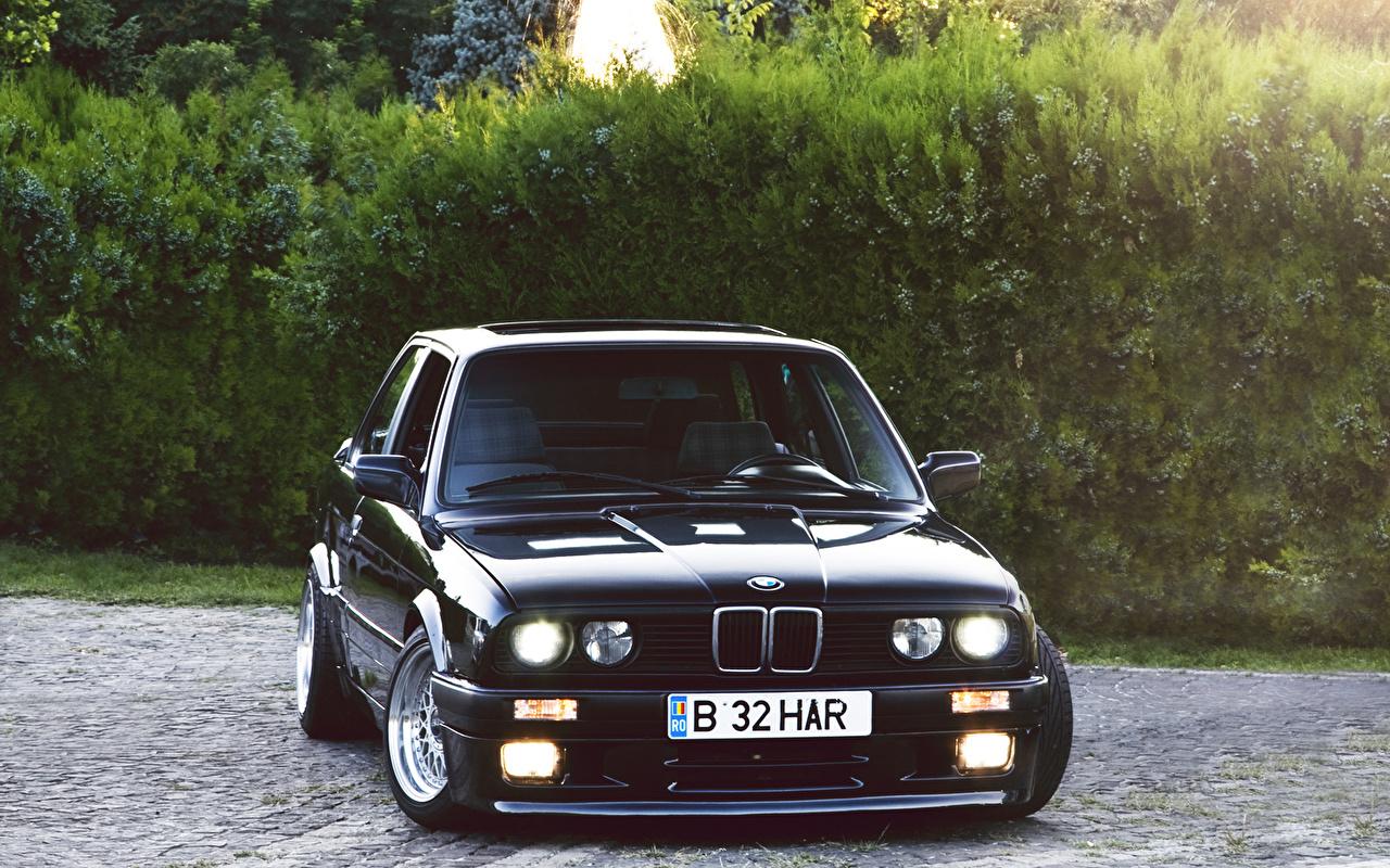 Фотография БМВ Черный автомобиль BMW черная черные черных авто машины машина Автомобили