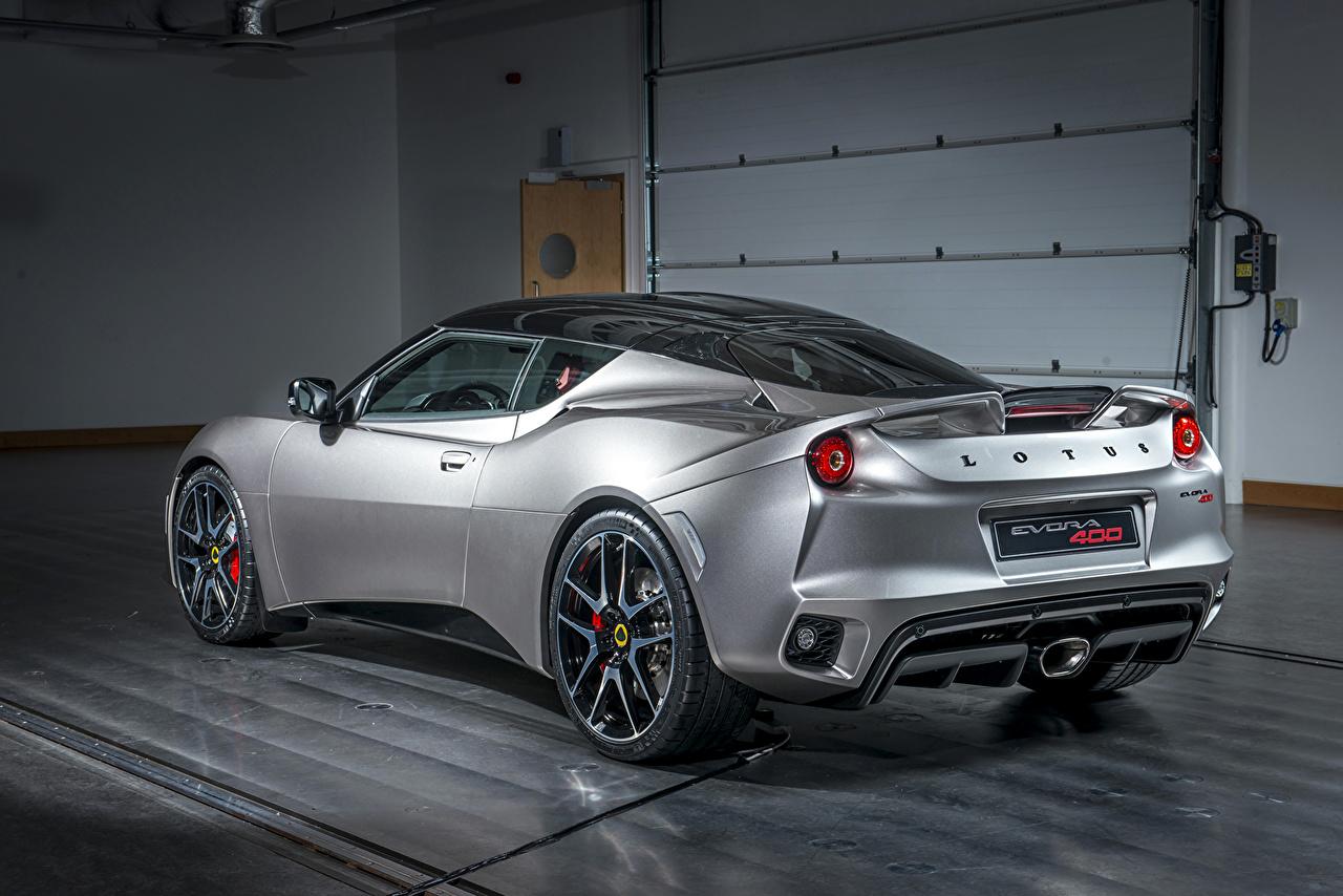 Фотография Лотус 2015 Evora 400 Серебристый Сзади машина Lotus серебряный серебряная серебристая авто машины вид сзади автомобиль Автомобили