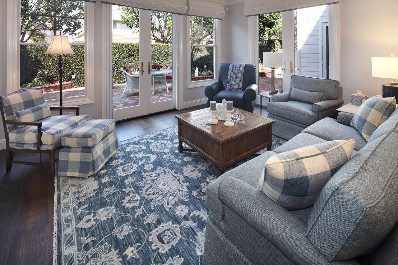 Картинки гостевая Интерьер Диван Кресло ковров Дизайн Гостиная ковры ковра Ковер диване дизайна