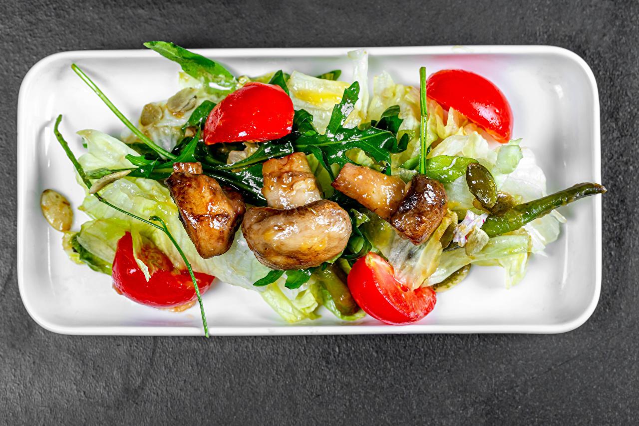 Фотографии Грибы Пища Овощи Салаты Еда Продукты питания