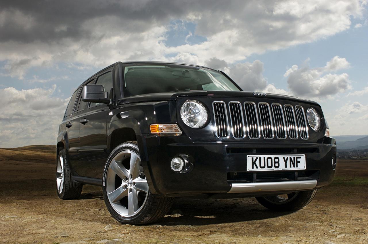 Картинка Jeep 2013 Patriot черная фар Автомобили Джип Черный черные черных Фары авто машины машина автомобиль