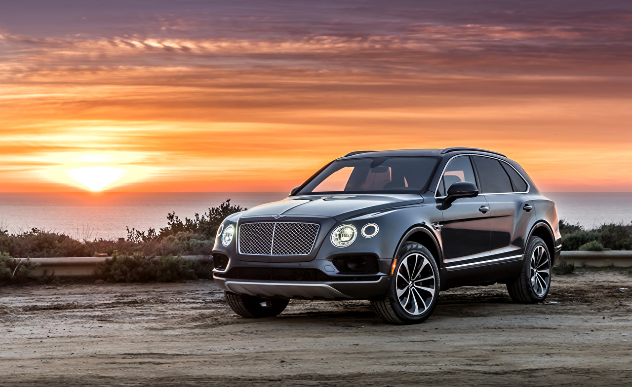 Картинки Bentley 2017–18 Bentayga автомобиль Бентли авто машины машина Автомобили
