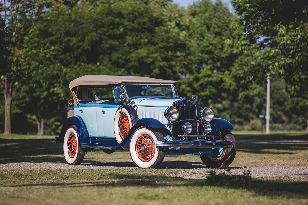 Фотографии Chrysler 1929 Series 75 Tonneau Phaeton Ретро авто Крайслер винтаж старинные машина машины автомобиль Автомобили
