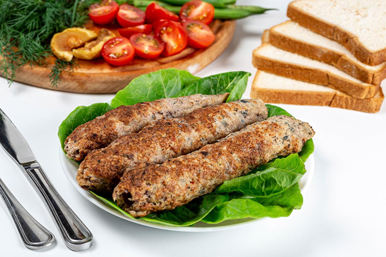 Фотография Kebab Хлеб Еда Мясные продукты Пища Продукты питания