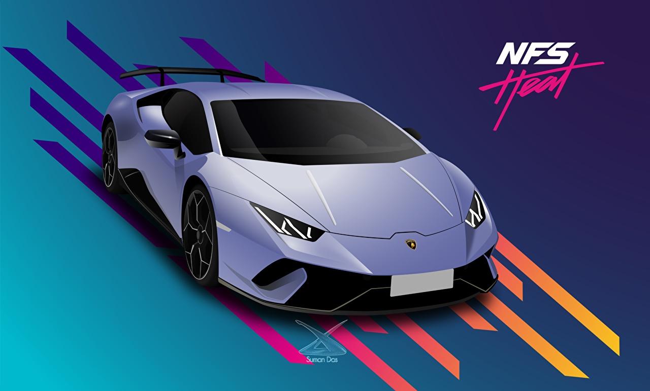 Обои для рабочего стола Need for Speed Lamborghini Heat, Huracan 2019 by Suman094 Игры машины Векторная графика Ламборгини компьютерная игра авто машина автомобиль Автомобили