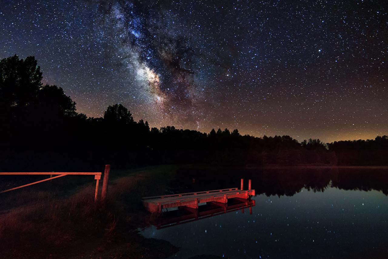 Звёздное небо и космос в картинках - Страница 19 Milky_Way_Lake_Stars_Sky_456931