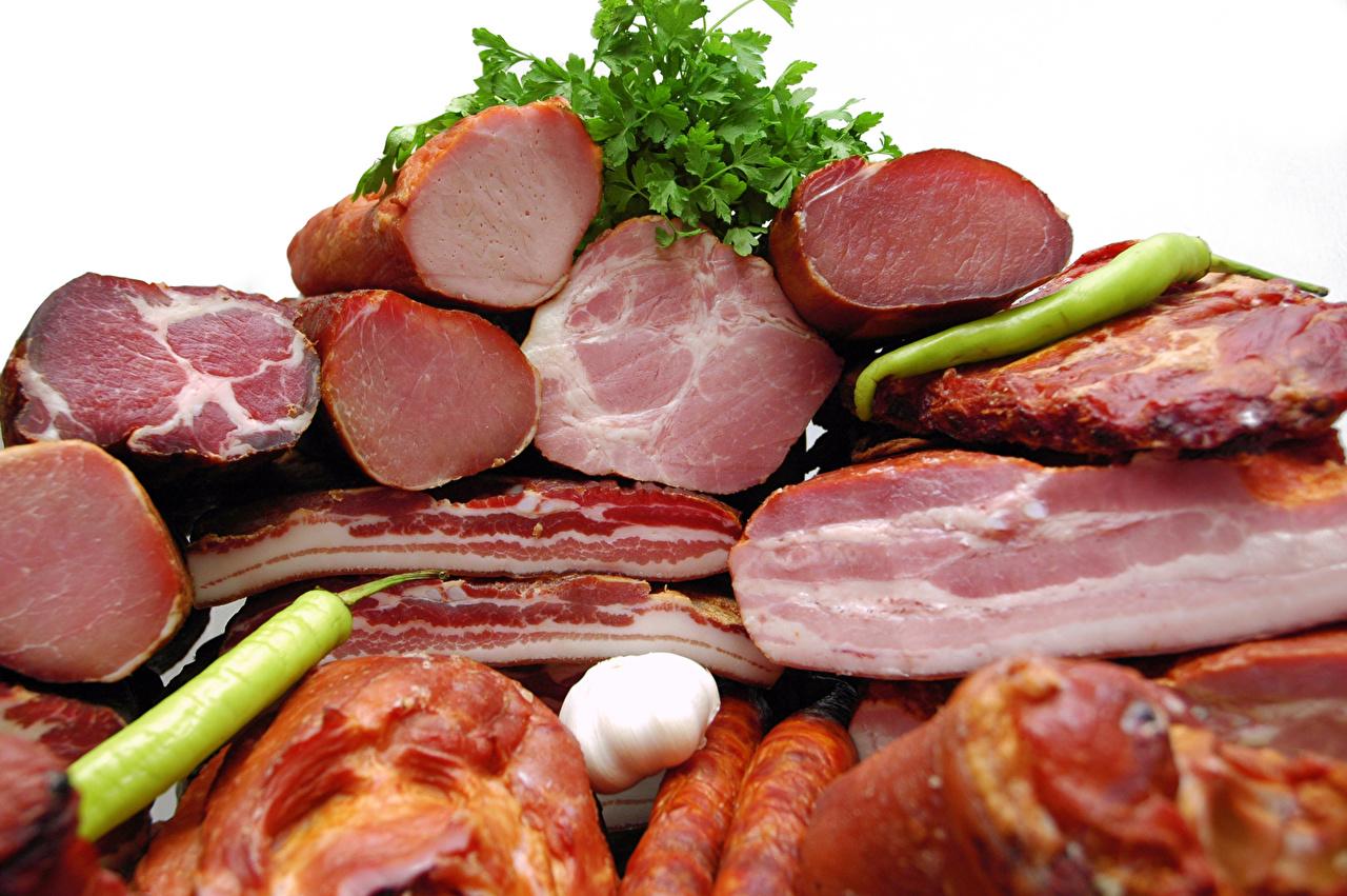 Фотография Ветчина Продукты питания Мясные продукты Еда Пища