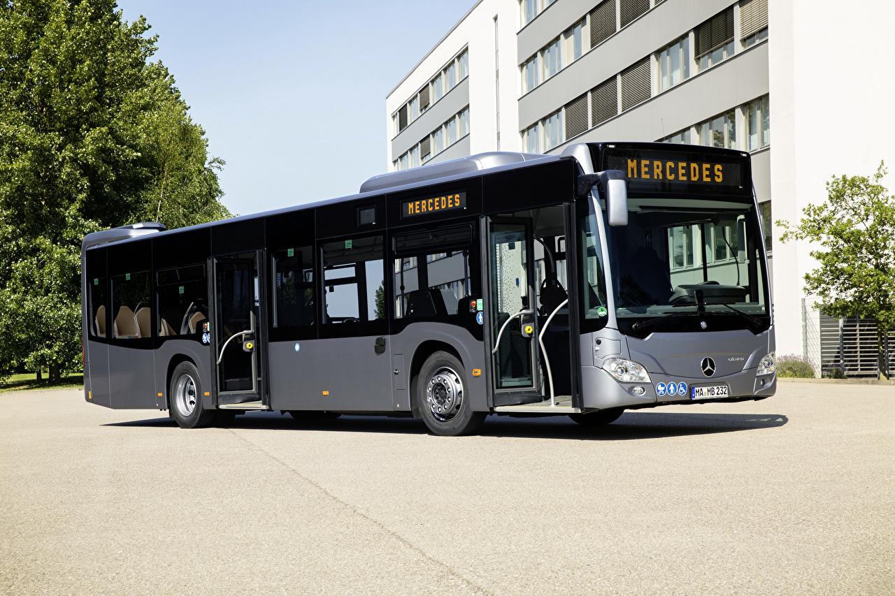 Обои для рабочего стола Mercedes-Benz Автобус 2017-18 Citaro Hybrid Автомобили Мерседес бенц авто машина машины автомобиль