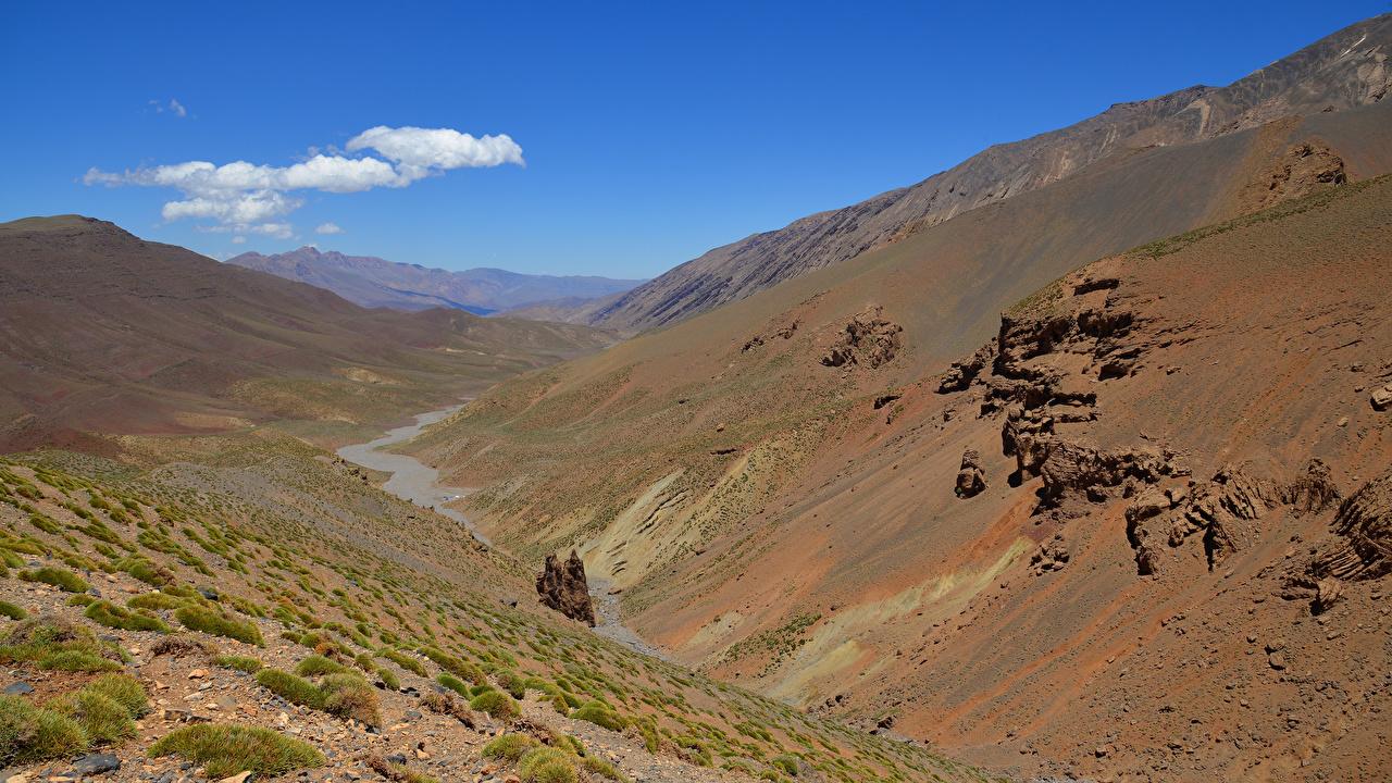 Картинки Марокко Atlas Mountains Горы Скала Природа гора Утес скале скалы