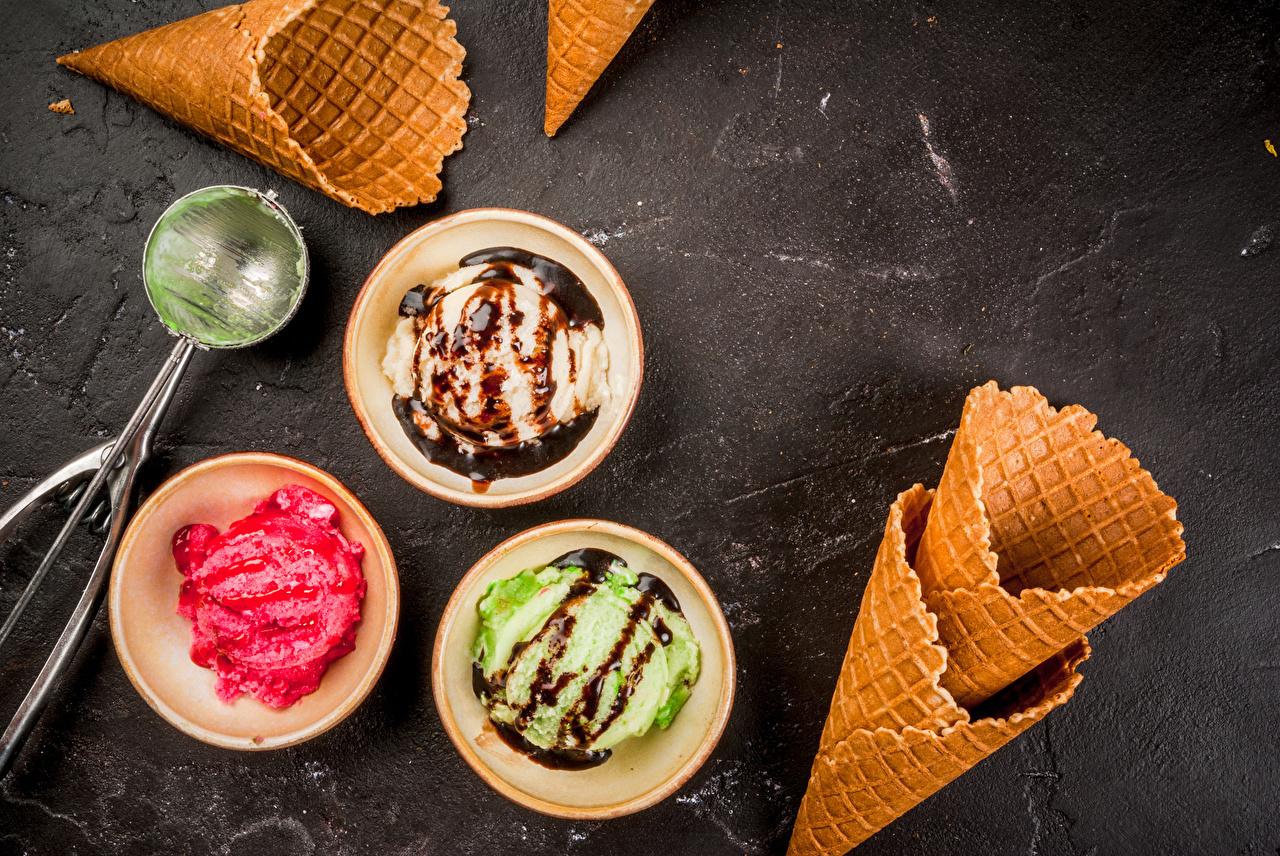 Фото Шоколад Мороженое Еда Шарики сладкая еда Шар Пища Продукты питания Сладости