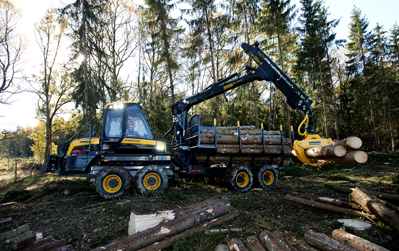 Обои для рабочего стола Ствол дерева 2014-17 Ponsse Gazelle Деревья Форвардер дерево дерева деревьев
