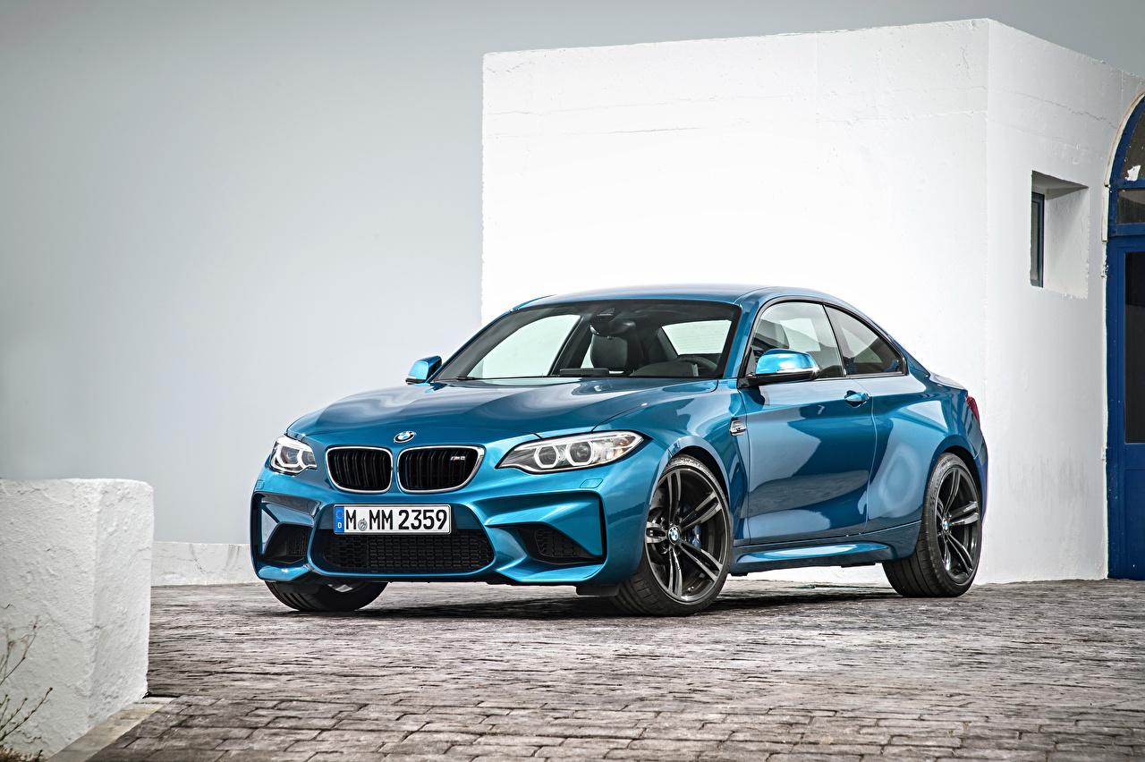 Обои для рабочего стола БМВ F87 голубая Автомобили BMW Голубой голубые голубых авто машины машина автомобиль