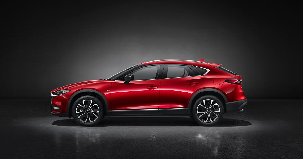 Фото Mazda Кроссовер CX-4, 2019 красная авто Сбоку Металлик Мазда CUV Красный красные красных машина машины Автомобили автомобиль