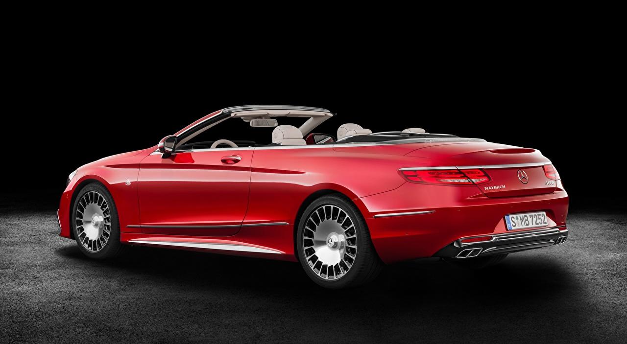 Картинка Майбах Мерседес бенц S 650, Cabriolet, 2017 Кабриолет Красный авто Maybach Mercedes-Benz кабриолета красная красные красных машина машины Автомобили автомобиль