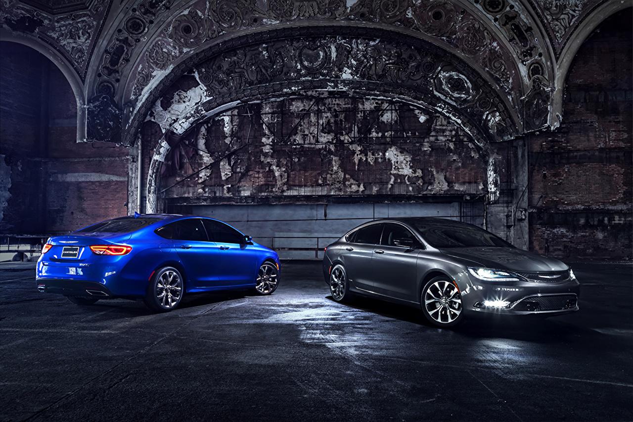 Фотография Крайслер 2015 200 S вдвоем Металлик Автомобили Chrysler 2 два две Двое авто машины машина автомобиль