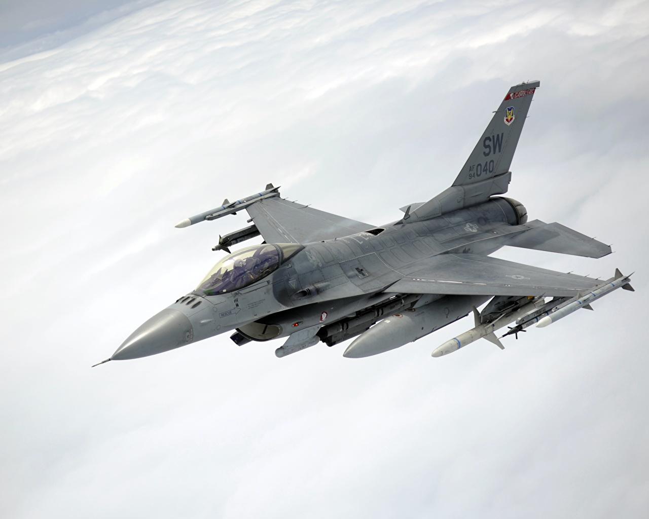 Обои Самолёт, F16. Авиация foto 11