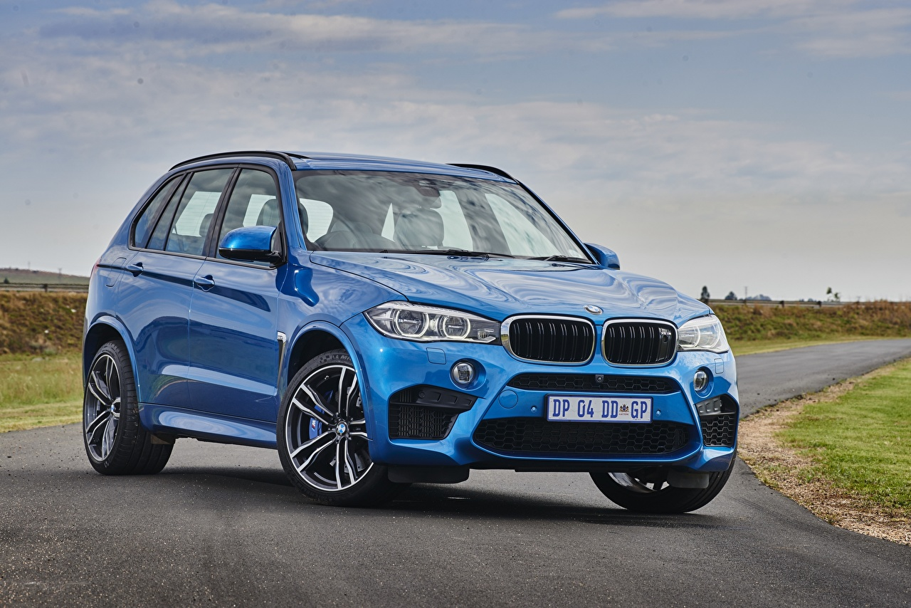 Фотография БМВ Кроссовер F85 синие авто BMW CUV синяя Синий синих машина машины Автомобили автомобиль
