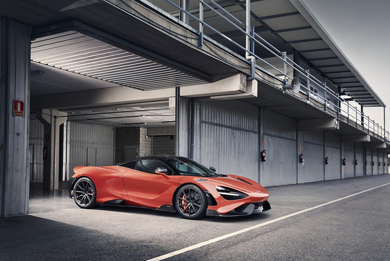 Картинка Макларен 2020 765LT красные Металлик автомобиль McLaren красных Красный красная авто машина машины Автомобили