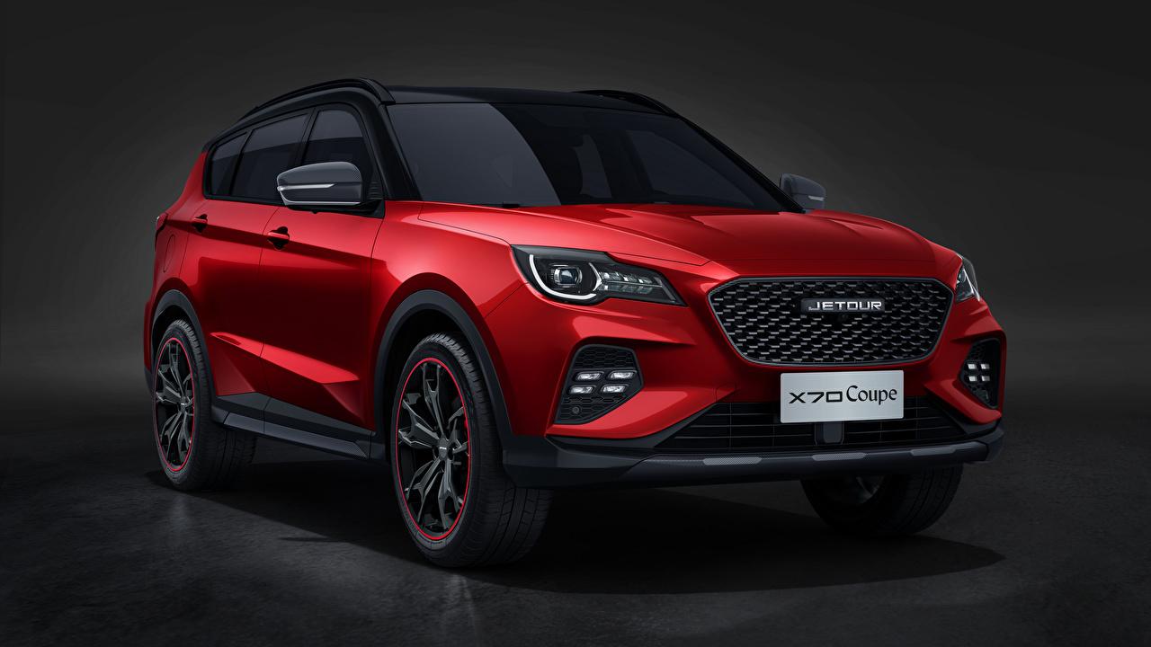 Картинка Chery Кроссовер Jetour X70 Coupe, 2020 Красный Спереди Металлик автомобиль CUV красная красные красных авто машины машина Автомобили