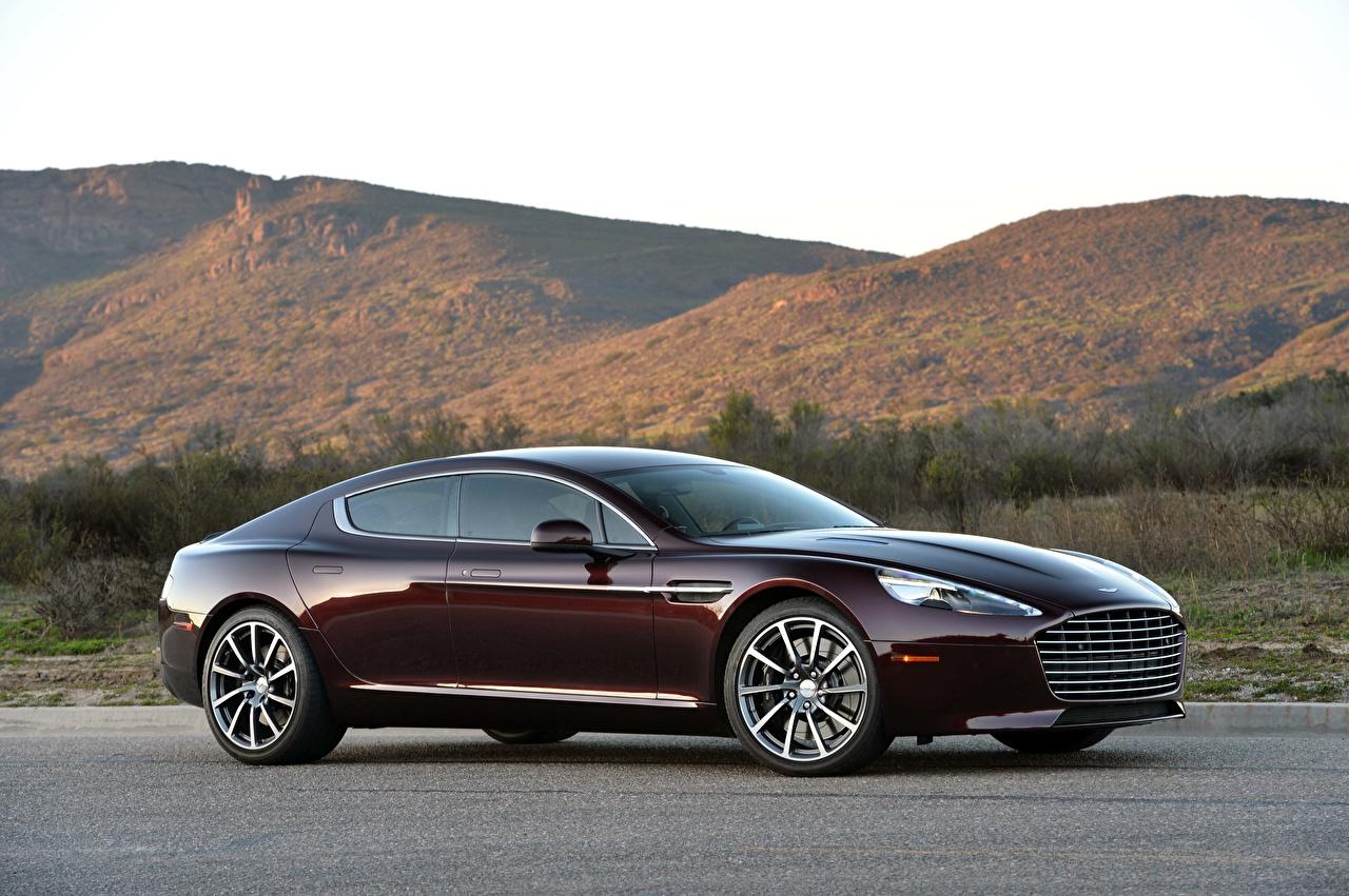 Картинка Aston Martin Rapide S, 2019-2020 Купе Бордовый Сбоку Металлик автомобиль Астон мартин бордовая бордовые темно красный авто машина машины Автомобили