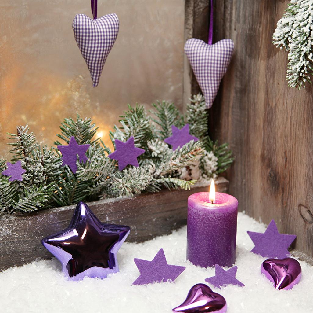 Фото Новый год Звездочки серце Свечи на ветке Доски Рождество Сердце сердца сердечко Ветки ветка ветвь