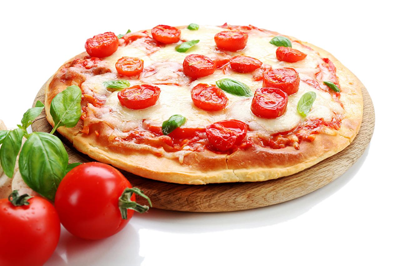 Фото Пицца Томаты Пища вблизи Помидоры Еда Продукты питания Крупным планом