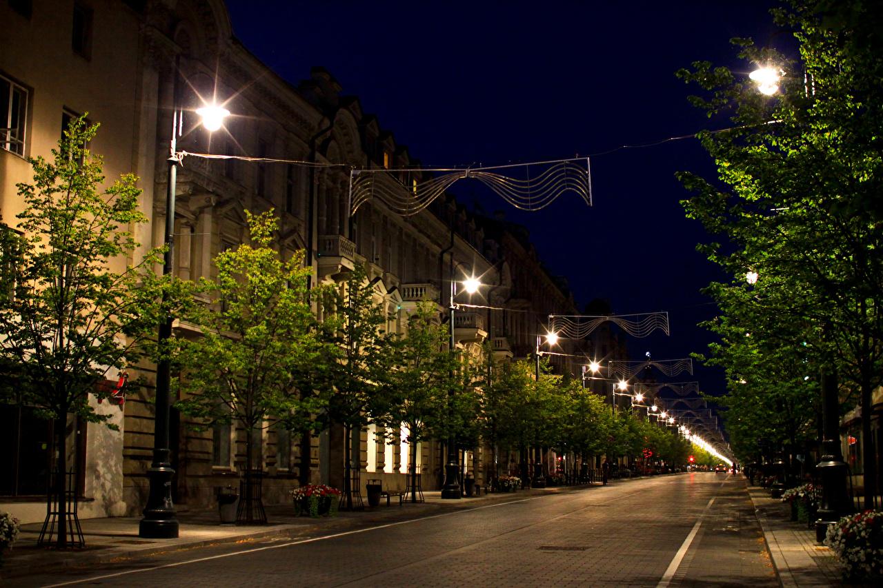 Обои новый город, вильнюс, освещение. Города foto 9